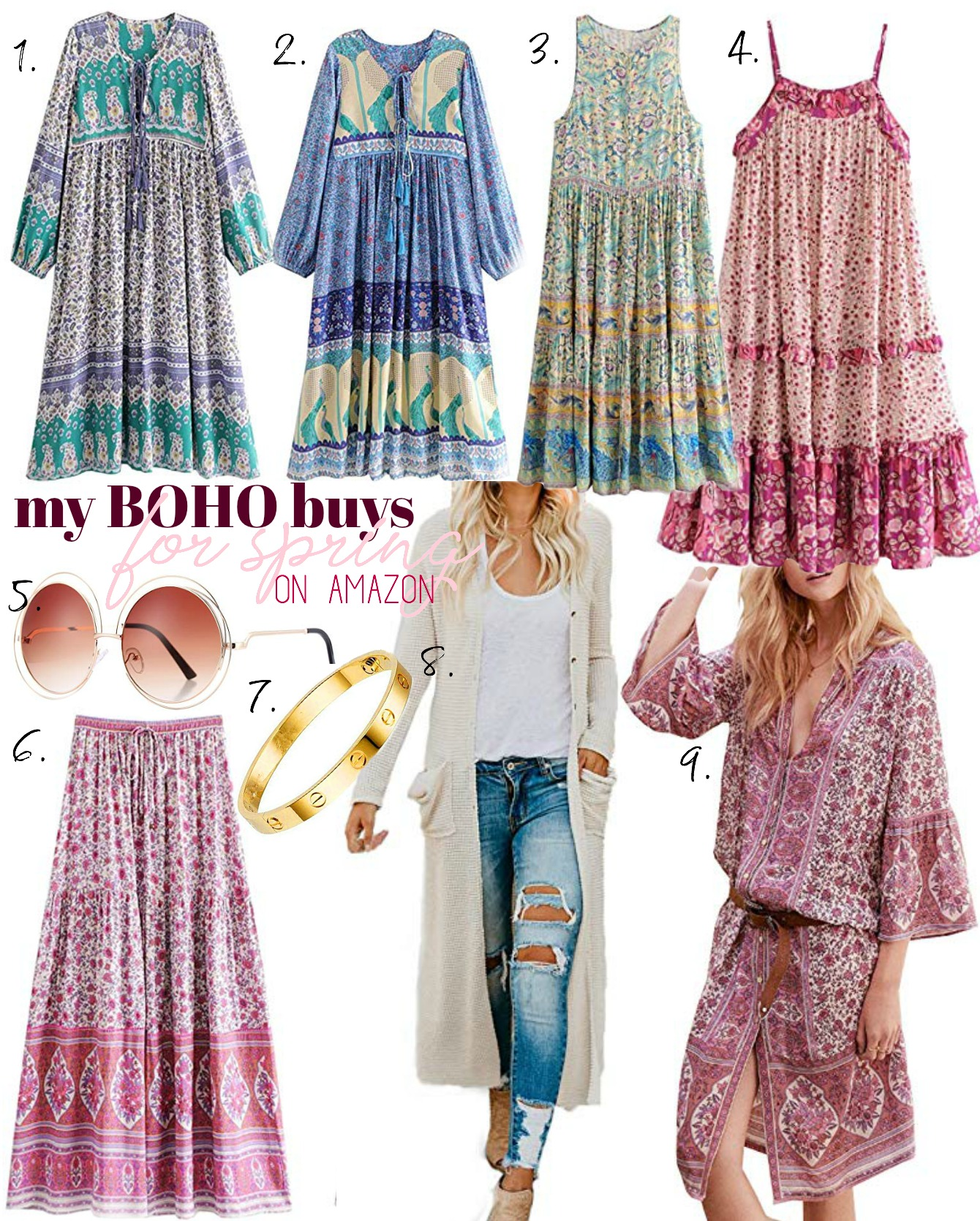 Boho Buys from Amazon